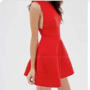 Forever 21 red fit and flare mini dress